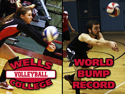 "Men's Volleyball To Re-Attempt ""Bump World Record"""