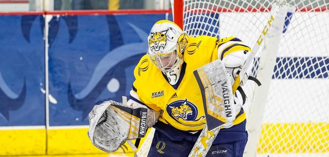 Ives records 34 saves as Quinnipiac ties St. Lawrence
