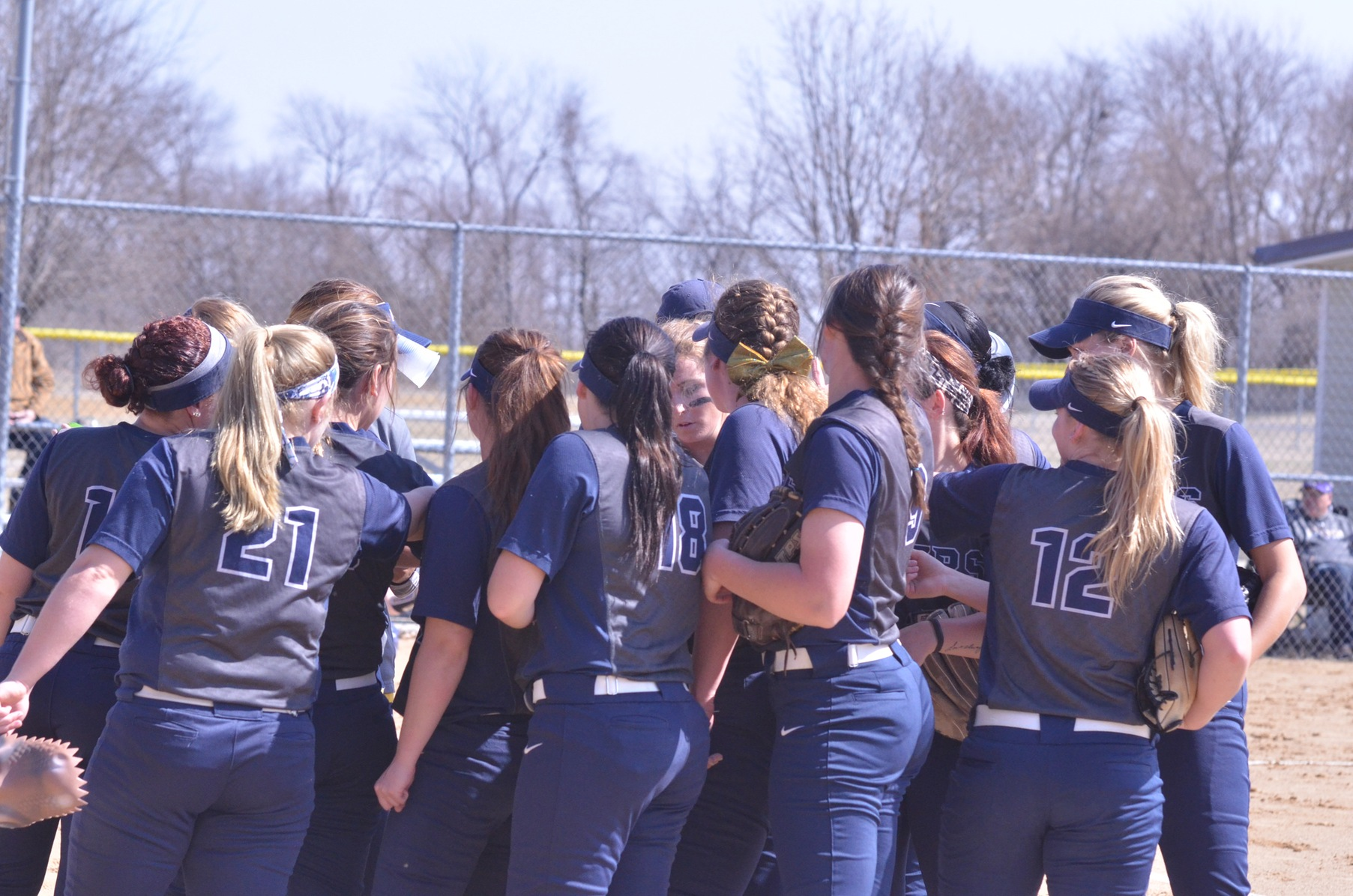 Softball Split on First Day of THE Spring Games