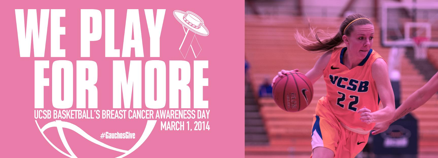 UCSB Women's Basketball to Host Play 4Kay Game Saturday