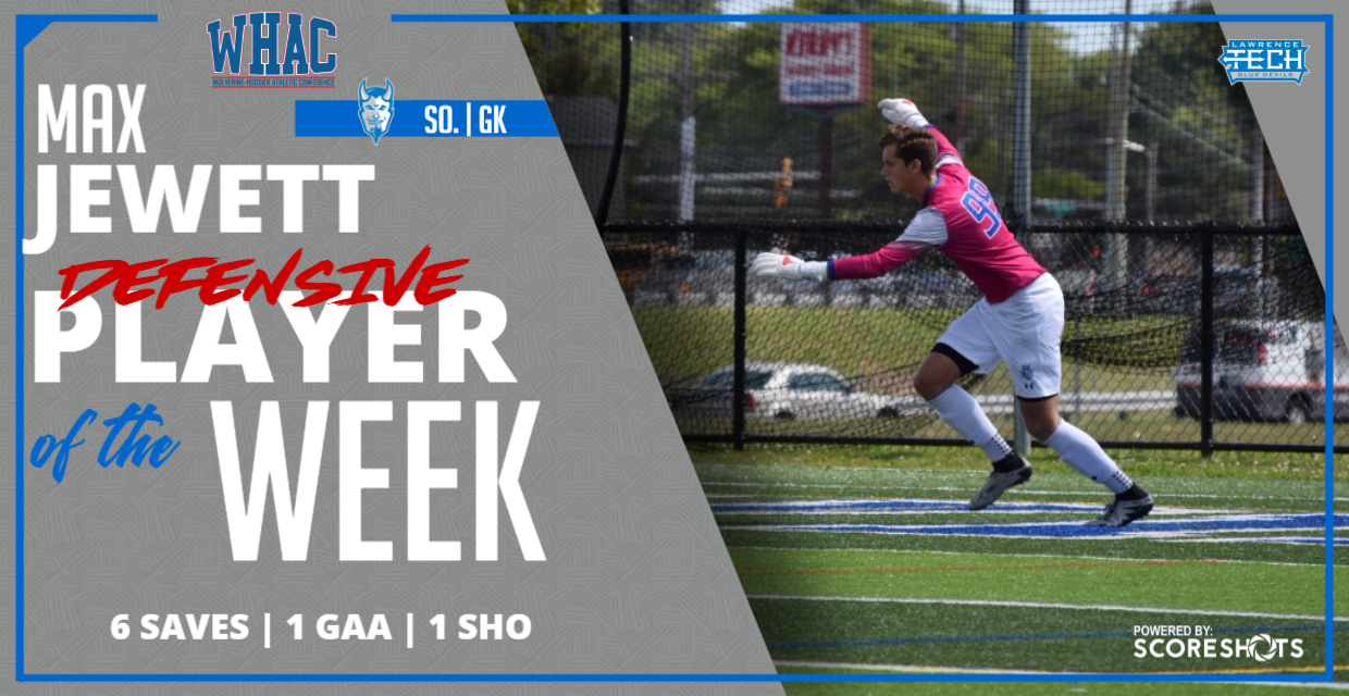 Photo for Max Jewett Earns WHAC Defensive Player of the Week Honor