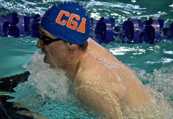 Men's Swimming and Diving Fifth After Day One
