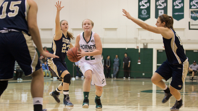 Moreno's Game-Winner Pushes Women's Basketball Past Rival UC Davis in Overtime