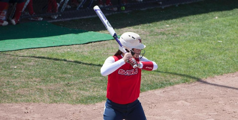 Aubree Mouthaan had five hits, including two home runs and six RBI in Friday's doubleheader sweep of Lake Erie...