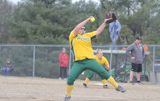 Hornets earn historic softball victory