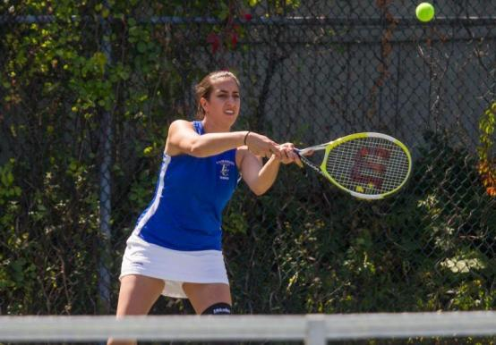 TENNIS TEAM POSTS 3RD-STRAIGHT 9-0 WIN