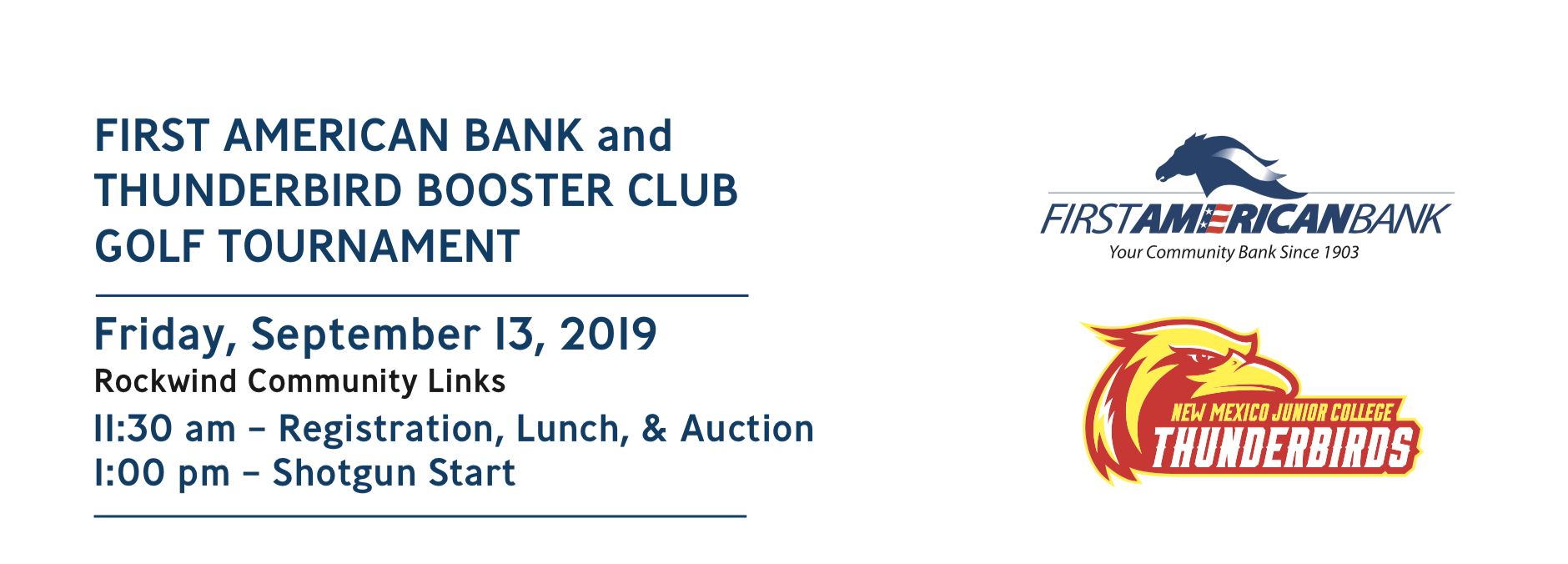 9th Annual First American Bank/ Thunderbird Booster Club Golf Tournament