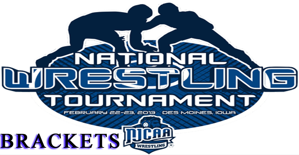 NJCAA National Wrestling Championship brackets have been released.