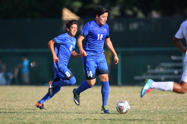 Carlos Payeras (14) scored a couple of second half goals to lead the Falcons