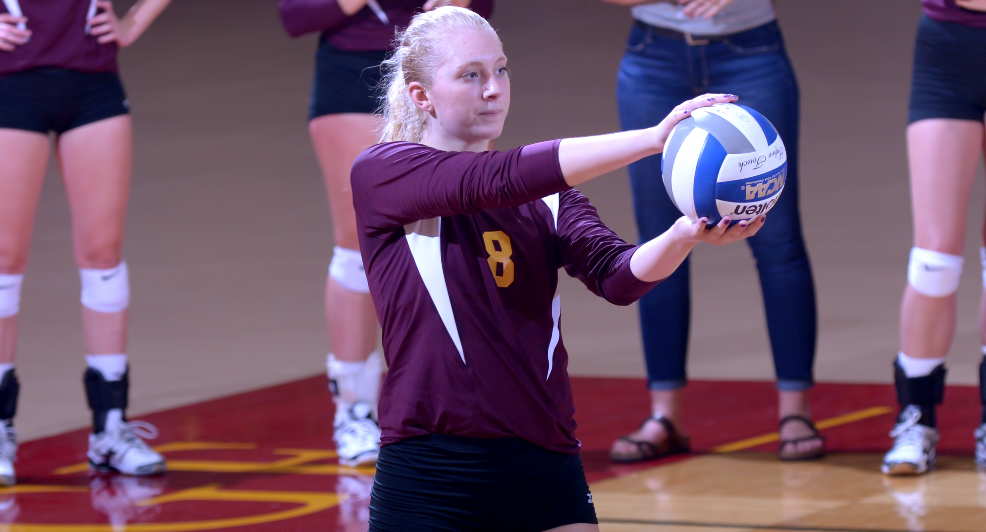 Sophomore Brianna Carney was named to the All-Tournament Team after leading the Cobbers at the season-opening Northwestern Invite.