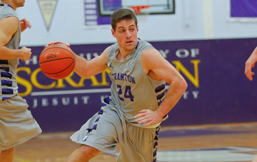 Senior guard Tim Lavelle had a career-high 17 points to lead the Royals past Moravian, 80-65, on Wednesday in the Long Center.