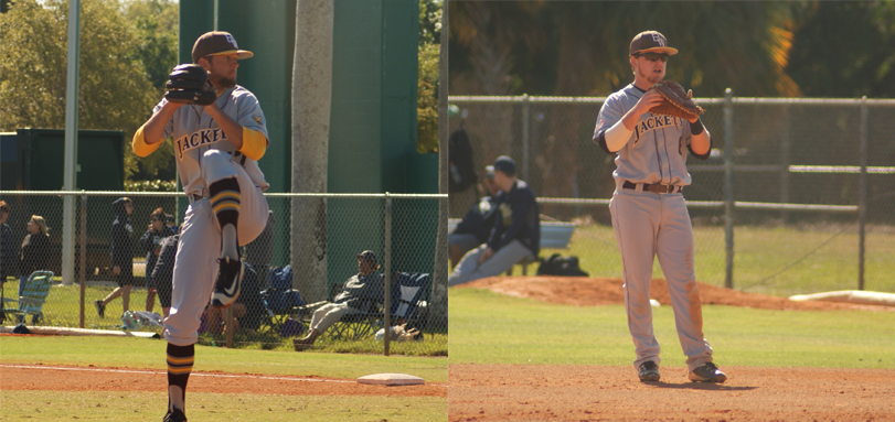 Senior pitcher Brandon Wysong and senior All-OAC second baseman Spencer Badia (Photos courtesy of Alec Palmer)