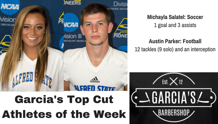 Michayla Salatel and Austin Parker named Garcia's Athletes of the Week