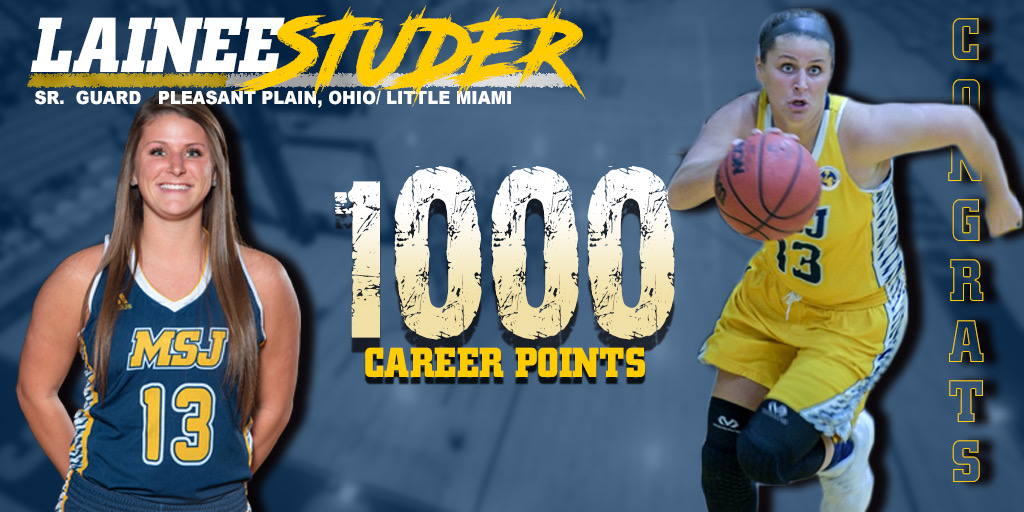 Lainee Studer scores 1,000th point in Lions loss to Spalding