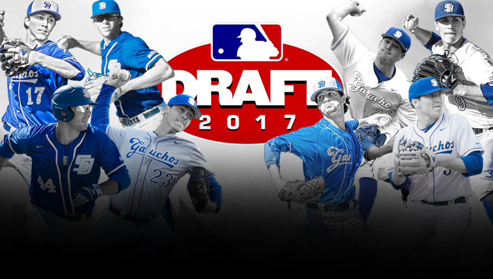 Eight Gauchos Selected in MLB Draft