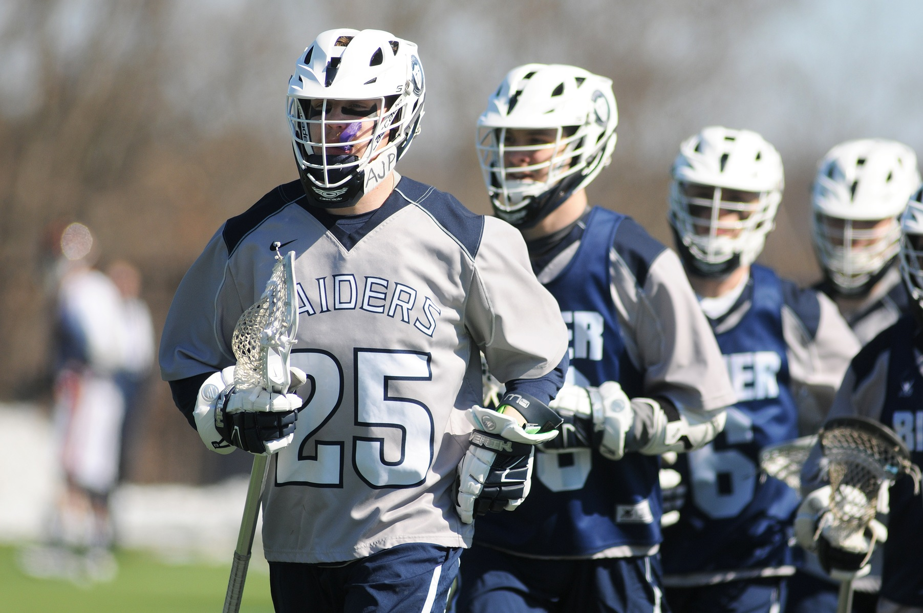 Men's Lacrosse: Raiders capture first conference win at home against AMCats, 11-9.