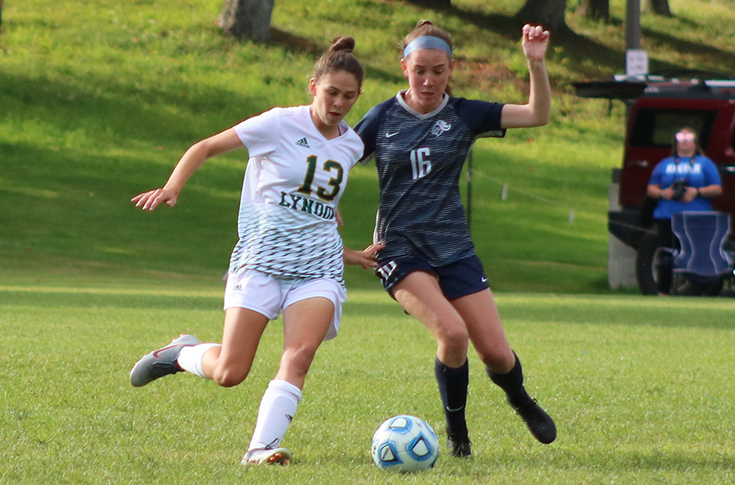 Women's Soccer: Late goals propel Raiders to 2-0 victory