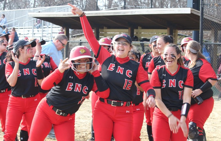 Softball Sweeps Bay Path in First-Ever NECC Series Saturday