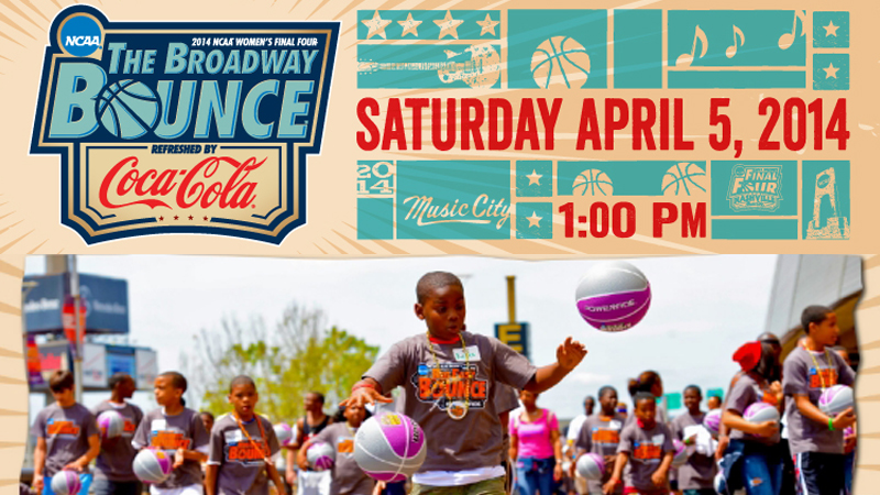 Get involved: Join the Broadway Bounce at NCAA Women's Final Four