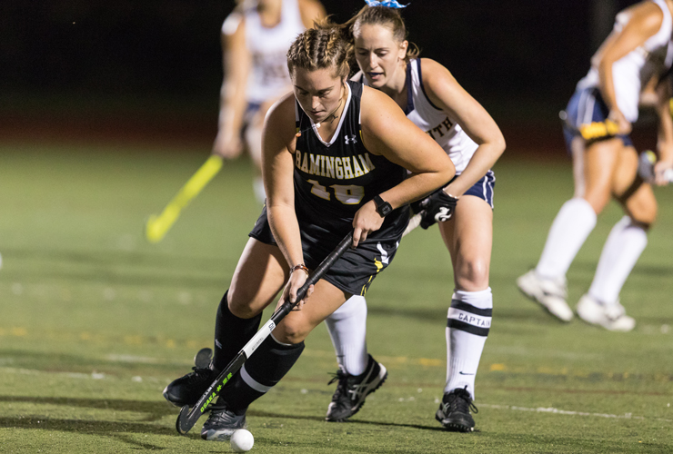 Ackerman's Hat Trick Not Enough as Field Hockey Falls to Nichols