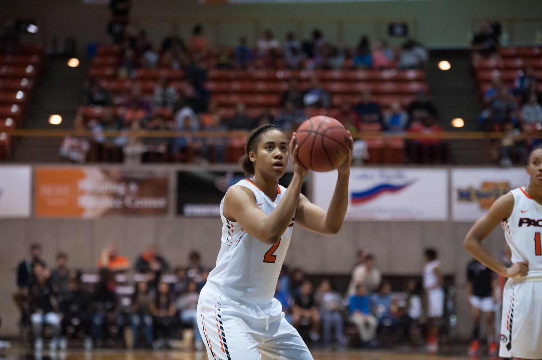 Jenelle Grant scores 16 points in the exhibition against William Jessup