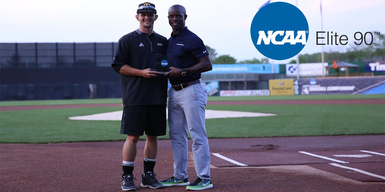 Texas Lutheran senior center fielder Riley Schaefer collected the NCAA's Elite 90 award