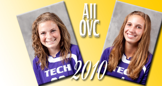 Two named second-team all-OVC for the 2010 soccer season