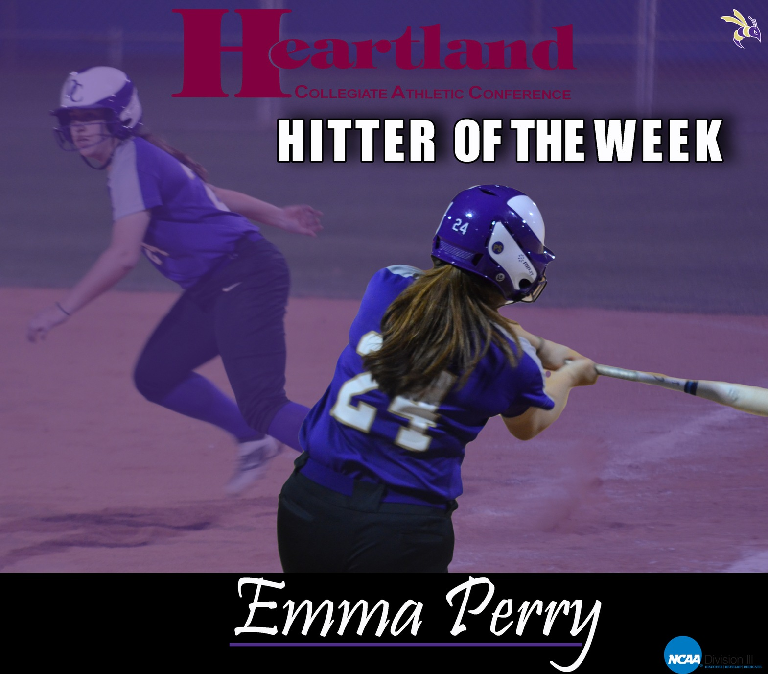 Freshman Emma Perry Named HCAC Hitter of the Week