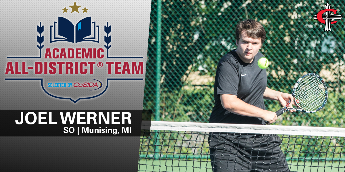 Werner is the first tennis player in program history to receive this honor