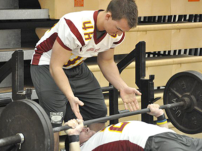 "Ferris State held its 2011 Bulldog Challenge ""Lift-A-Thon"" on Friday (March 25) night at Jim Wink Arena (Photo by Rob Bentley)"