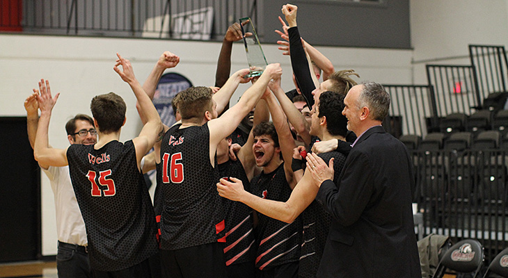NEAC Champions! Men's Volleyball Rallies For Five-Set Win