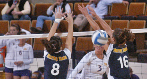 Golden Eagles battle back, overcome Racers in five sets