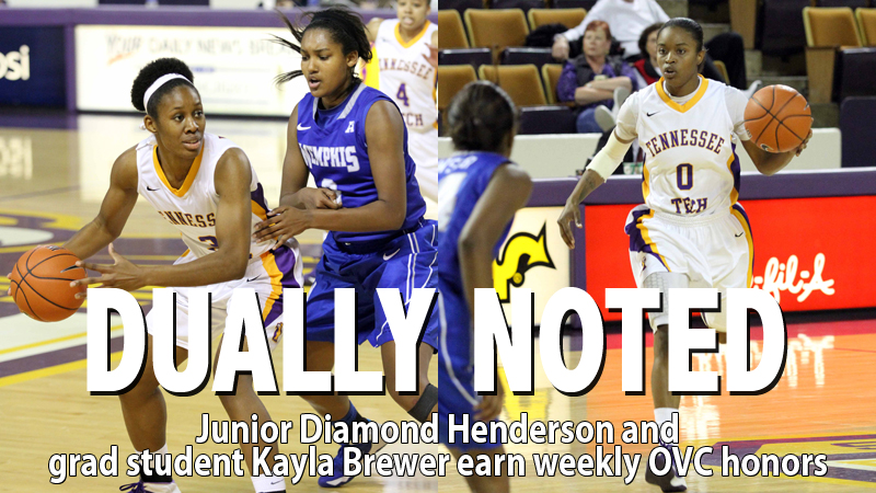 Henderson, Brewer pick up Player and Newcomer of the week from the OVC