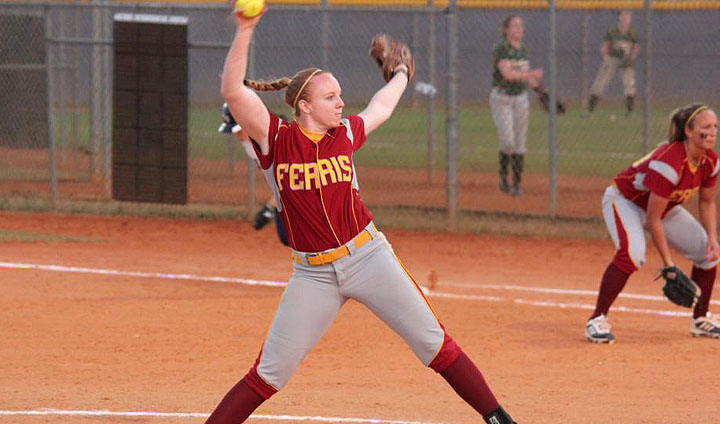 Ferris State's Dana Bowler Tabbed As GLIAC Pitcher Of The Week