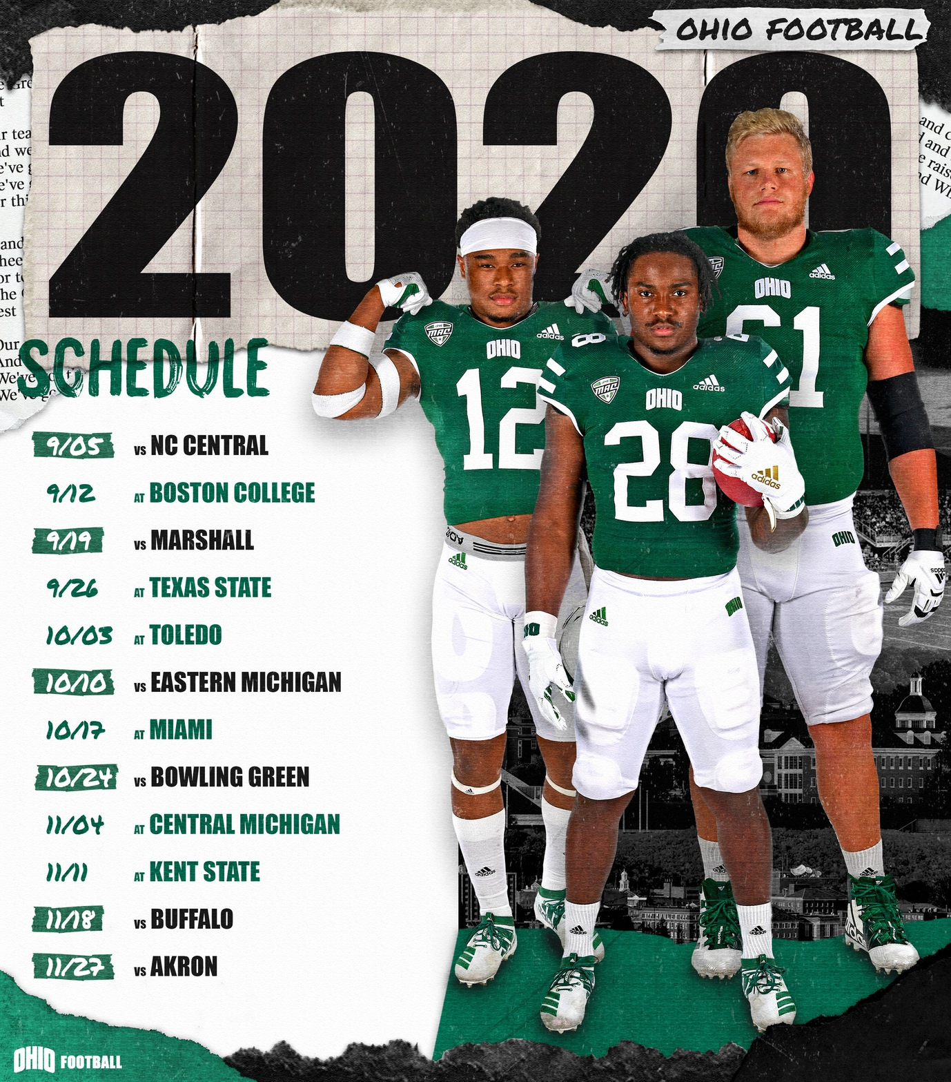 Ohio Football Releases 2020 Schedule