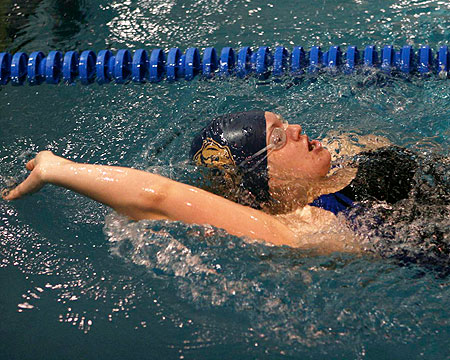 GU women's swimmers lose tough meet against Goucher, St. Mary's