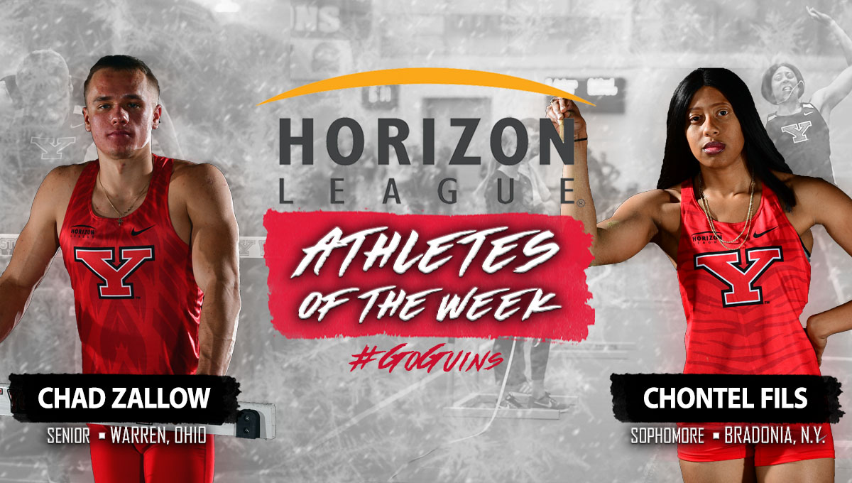 Chad Zallow and Chontel Fils earn Horizon League Athlete of the Weeks awards