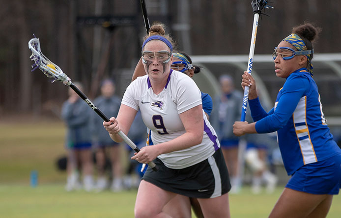 Women's Lacrosse Registers Historic 10-9 Win Over Perennial Power Stonehill