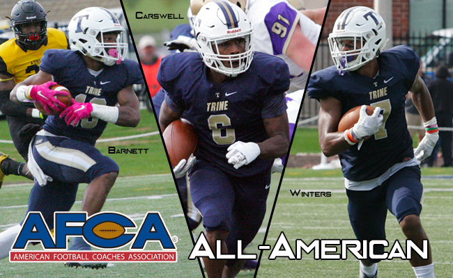 Carswell, Marcus Winters & Barnett Named All-American By AFCA