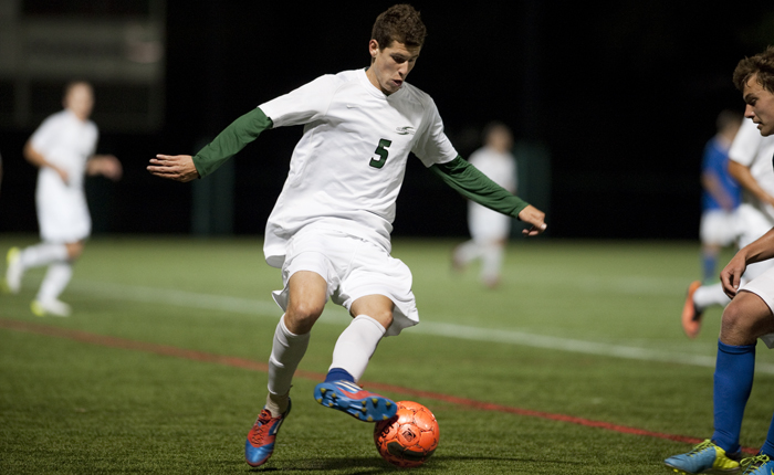 Sarioglou, Alic Lead Mustangs in 2-0 Victory Over Local Rival Goucher