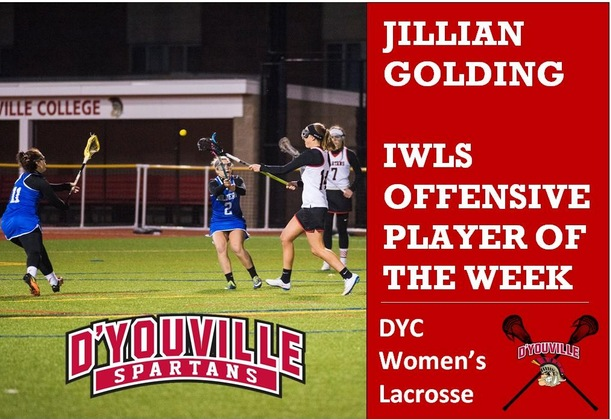 Golding Named IWLS Offensive Player of the Week