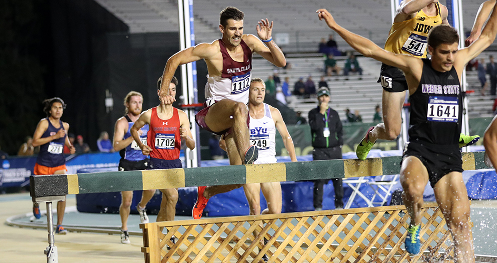 Joey Berriatua competed in the seventh postseason race in Bronco history on Friday night.