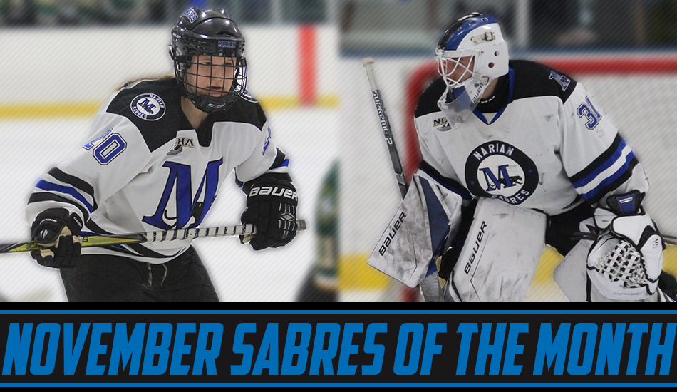 November Sabres of the Month graphic.