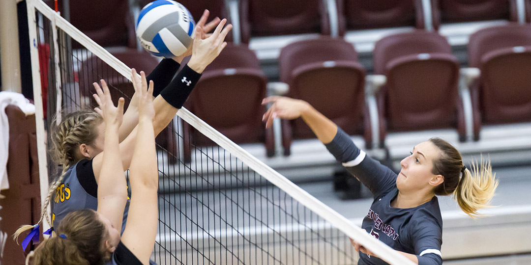 Ladies Volleyball Splits to Close out Weekend