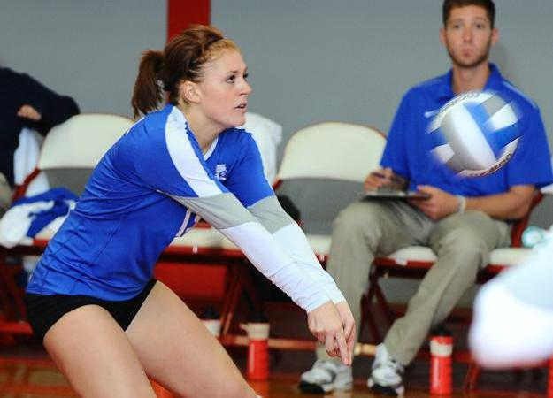 Volleyball Tops FDU, 2-0 in NEC Play