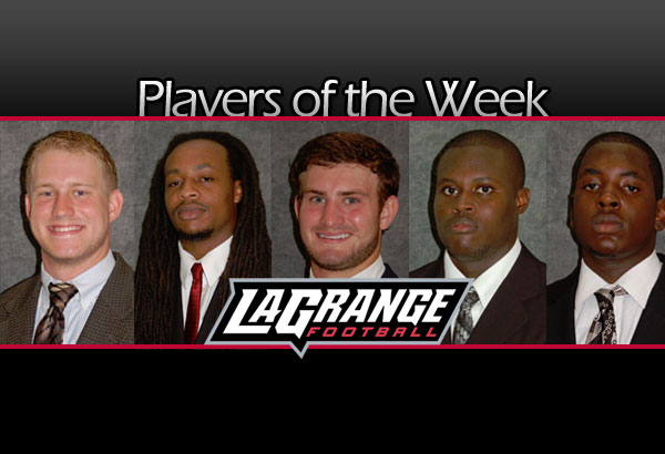 Team players of the week announced for North Greenville game