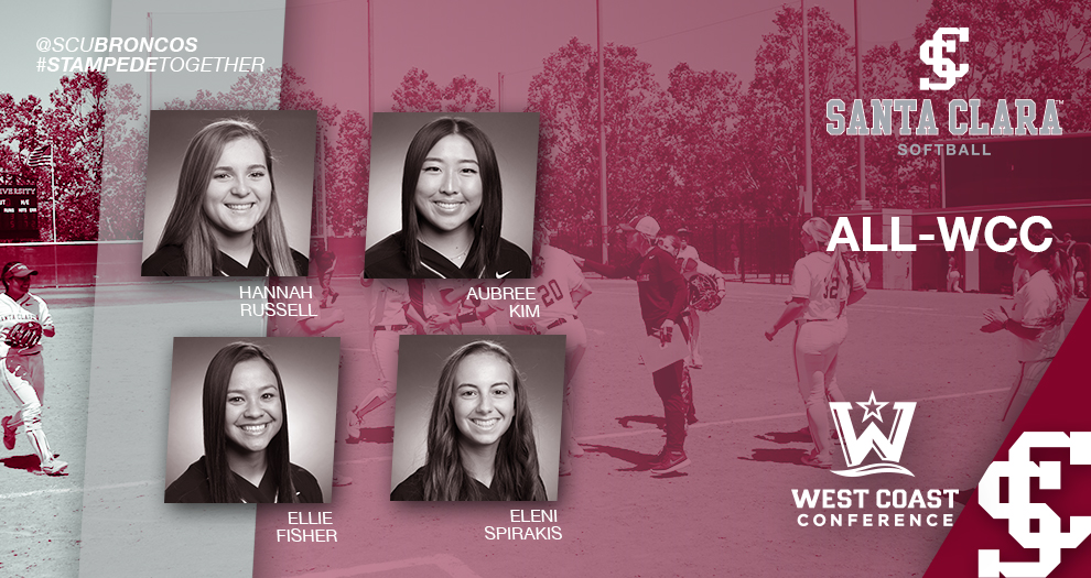 Four Softball Players Honored as All-WCC