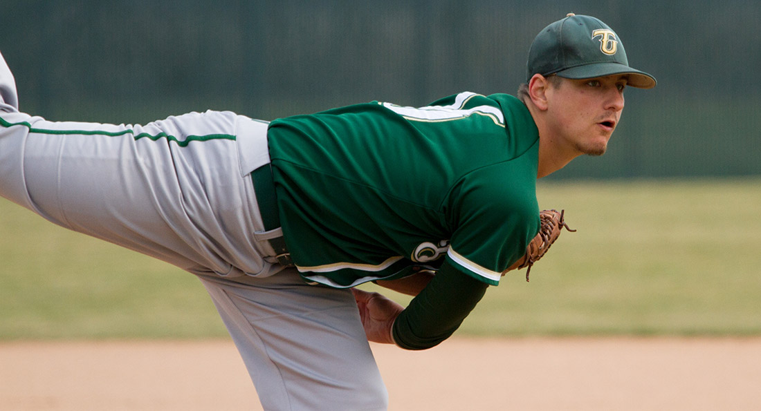Tiffin starting pitcher, Marc Deitsch, punched out six Eagles in eight innings of work en route to a 9-1 Tiffin win.