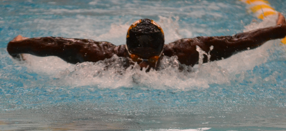Senior Philip Adejumo set a new school record in the 100 fly after touching in with a time of 47.43 to earn gold, taking down Mohamed Hussein's record of 47.79 set back in 2014. He also hit an NCAA B Cut in the process.