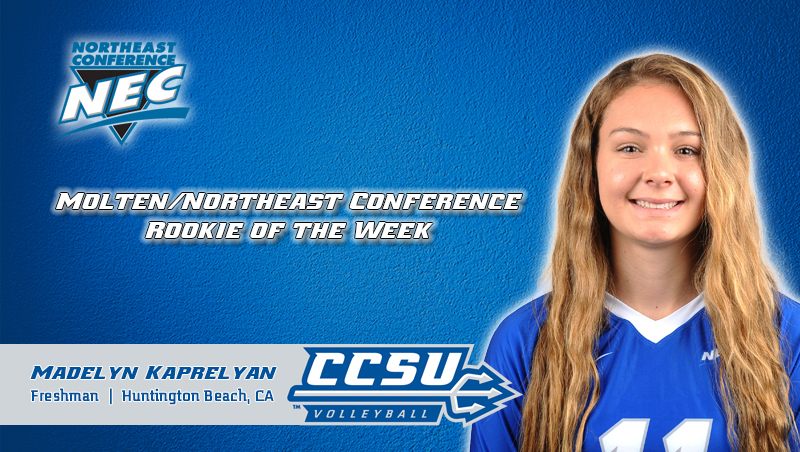 Kaprelyan Named Molten/NEC Rookie of the Week